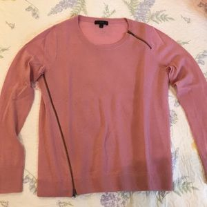 **NEVER WORN JCREW SWEATER WITH WORKING ZIPPERS**